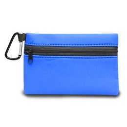 350 Units of Neoprene Zipper Wallet - Royal - Leather Purses and Handbags