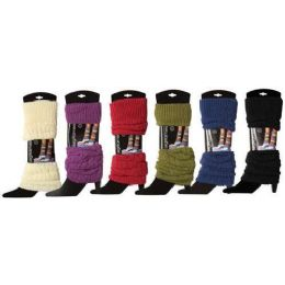 60 Units of Women's Classic Cable Legwarmers - Arm & Leg Warmers
