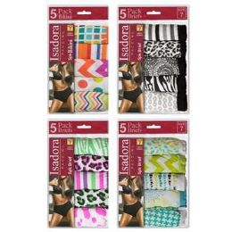 24 Units of Ladies 5 Pack Bikini - Womens Panties & Underwear