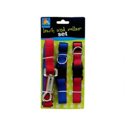 24 Units of 8ft leash + 2 collars set - Pet Collars and Leashes