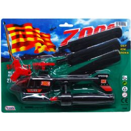 """72 Units of 8.5"""" Pull A Line Zoom Chopper On Blister Card, 3 Assrt Clrs - Toy Sets"""