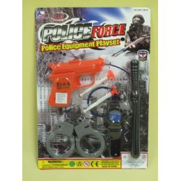 96 Units of Police Force Play Set - Toy Weapons