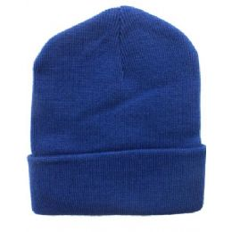 36 Units of Royal Blue Beanie 12 Inch - Winter Beanie Hats
