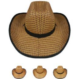 24 Units of WESTERN COWBOY HAT ASSORTED - Cowboy & Boonie Hat