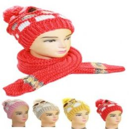 36 Units of Woman Winter Hat And Scarf - Sun Hats