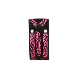 36 Units of Pink Zebra Suspender In Adult Size - Suspenders