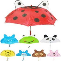 36 Units of Children's Animal Printed Umbrellas - Umbrellas & Rain Gear