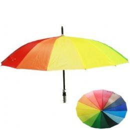 24 Units of Adult Rainbow Printed Umbrella - Umbrellas & Rain Gear