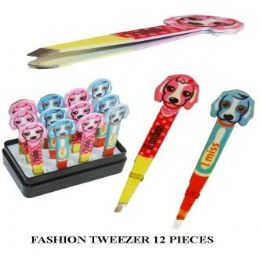 144 Units of Animal Disign Tweezer - Scissors and Tweezers