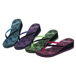 36 Units of Ladies Wedge Flip Flop - Women's Flip Flops