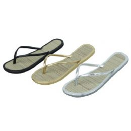 96 Units of Ladies Bamboo Flip Flop - Women's Flip Flops