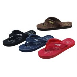 48 Units of Ladies Eva Beach Sandals - Women's Flip Flops