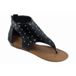 18 Units of Ladies Fashion Sandals In Black - Women's Flip Flops