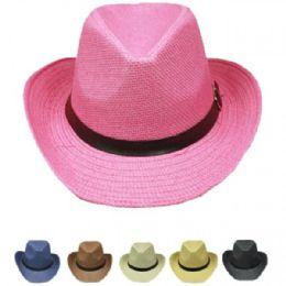 36 Units of Western Cowboy Hat Mix Color - Cowboy & Boonie Hat