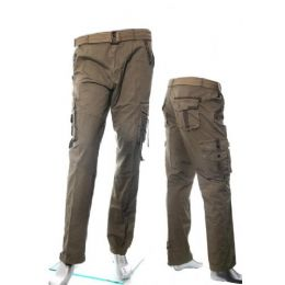 12 Units of Men's Fashion Cargo Pants 100% Cotton Size Scale A - Mens Pants
