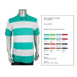 48 Units of Men's Cut & Saw Polo Shirt Size Chart B Only - Mens Polo Shirts