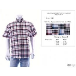 48 Units of Mens Fashion Button Down Shirts 60% Cotton Size Scale A Only - Men's Work Shirts