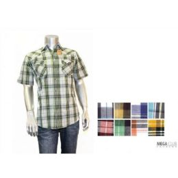 48 Units of Button Down Fashion S/s Shirts Size Scale B Only - Men's Work Shirts