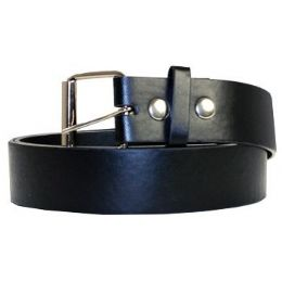 72 Units of Large Black Plain Belt - Mens Belts
