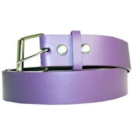 72 Units of Mixed Size Plain Purple Belt - Unisex Fashion Belts
