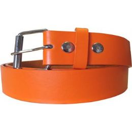 72 Units of Mixed Size Orange Plain Belt - Unisex Fashion Belts