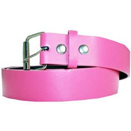 72 Units of Mixed Size Pink Plain Belt - Unisex Fashion Belts