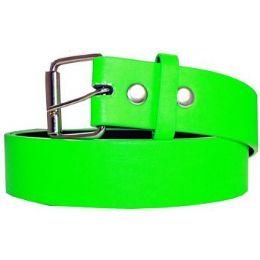 72 Units of Neon Mixed Size Plain Belt - Unisex Fashion Belts