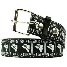 120 Units of Hecho En Mexico Printed Belt - Unisex Fashion Belts