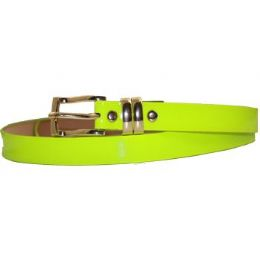 72 Units of Ladies Plain Light Green Belt - Womens Belts