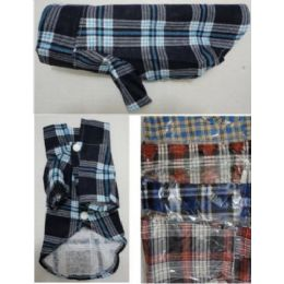 24 Units of Flannel Pet Shirt - Pet Accessories