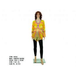 24 Units of Ladies Yellow Chiffon Blouse - Womens Fashion Tops