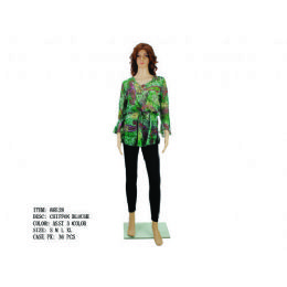 24 Units of Ladies Chiffon Blouse - Womens Fashion Tops