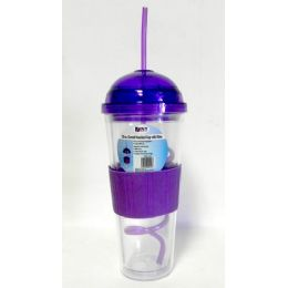 12 Units of Wholesale 20 Oz Domed Insulated Cup With Straw Eco Friendly Bpa Free - Drinking Water Bottle