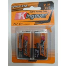48 Units of 2pk 9 Volt Battery--Kingever - Batteries