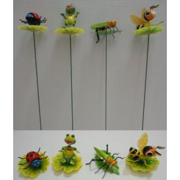 144 Units of Yard Stake [Frog/Bee on Lily Pad] - Garden Decor
