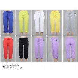 72 Units of Women's Terry Capri Pants - Womens Capri Pants