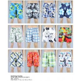 144 Units of Printed Men's Swim Trunks - Mens Shorts