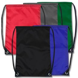 2016 Units of 18 Inch Basic Drawstring Bag - 5 Colors - Draw String & Sling Packs