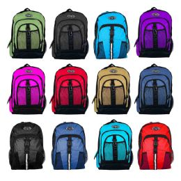 "24 Units of 18"" Premium Bulk Backpacks in 12 Assorted Styles - School and Office Supply Gear"