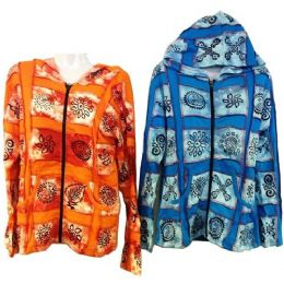 10 Units of Patchwork Cotton Handmade Nepal Jackets with Symbols - Womens Apparel