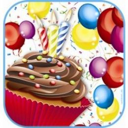 """144 Units of Cupcake 7"""" Plate 8ct - Party Paper Goods"""