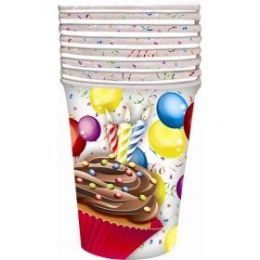 144 Units of Cupcake Cup 8ct - Party Paper Goods