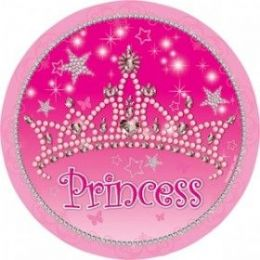 """144 Units of Princess 9"""" Plate 8ct - Party Paper Goods"""