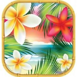 """144 Units of Tropical Paradise 9"""" Plate 8ct - Party Paper Goods"""