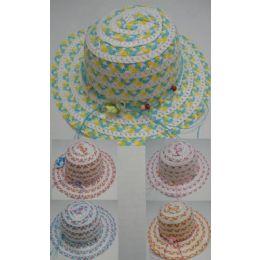 48 Units of Girl's Summer Hat - Sun Hats