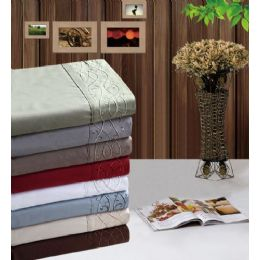 12 Units of Manhattan Light Embroidered Sheet Sets - Bed Sheet Sets