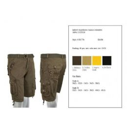 24 Units of Mens Fashion Cargo Shorts 100% Assorted Colors - Mens Shorts