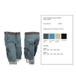 24 Units of Mens Fashion Cargo Shorts 100% Cotton - Mens Shorts