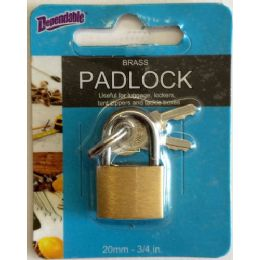 144 Units of 20mm Brass Luggage Lock - Padlocks and Combination Locks