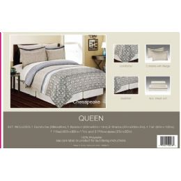 4 Units of Manhattan Light Collection 8 Piece Printed Bed In Bag - Blankets & Bedding